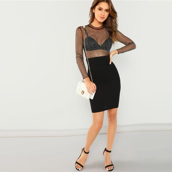 eca44e4eaa Fit: SkinnyStyle: Sexy Material: Polyester, SpandexType: BodysuitStretch:  Some stretchWaist: Mid WaistSleeve Length: Long Sleeve