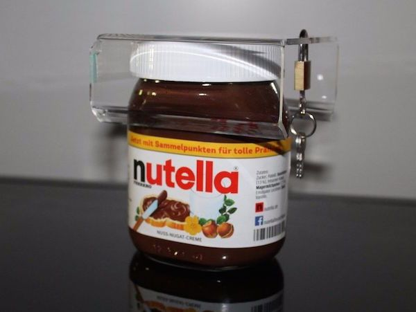 Experiencing Nutella theft?  Here's a lock for your jar