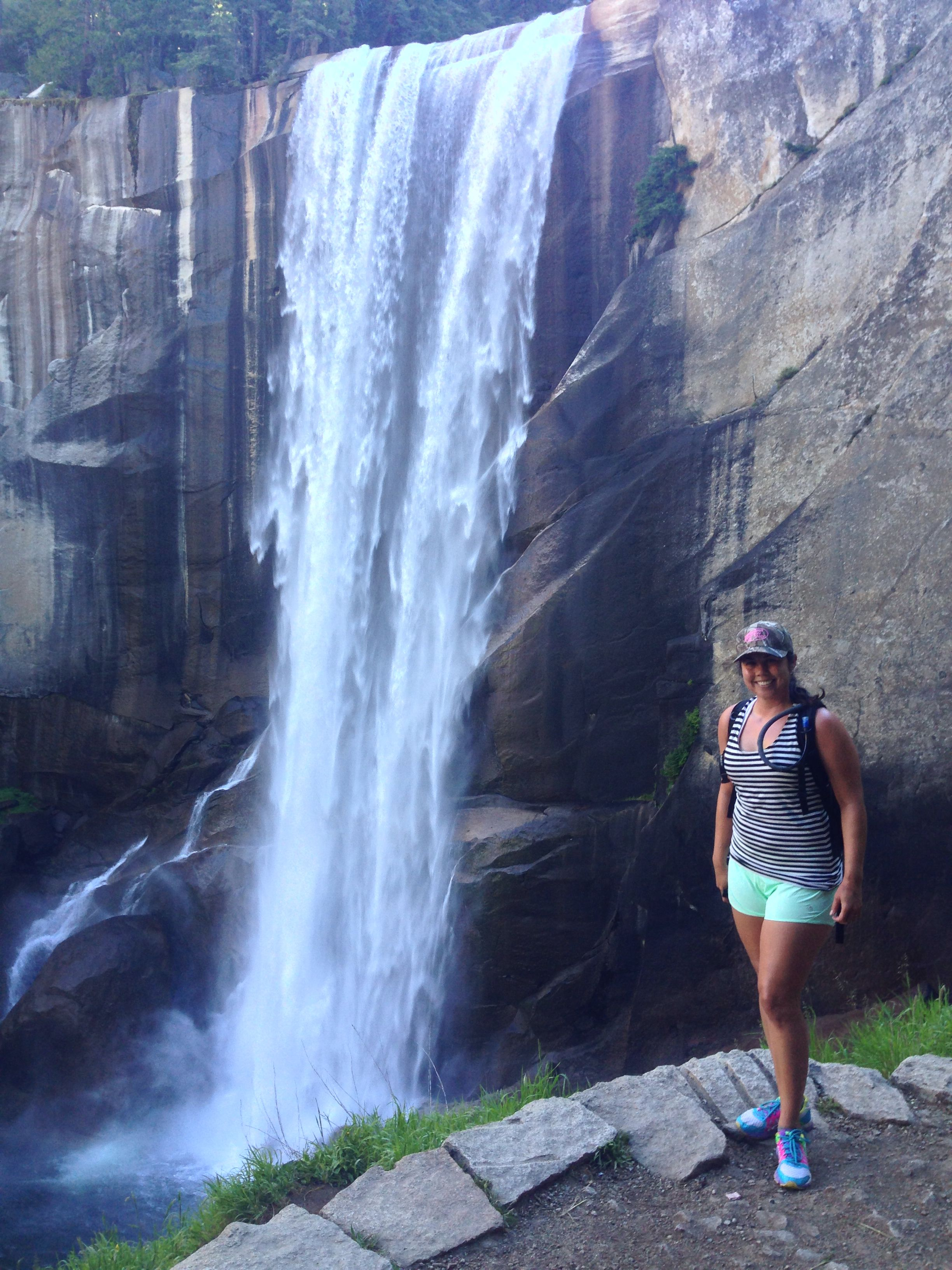 Hiked to a waterfall at Yosemite!