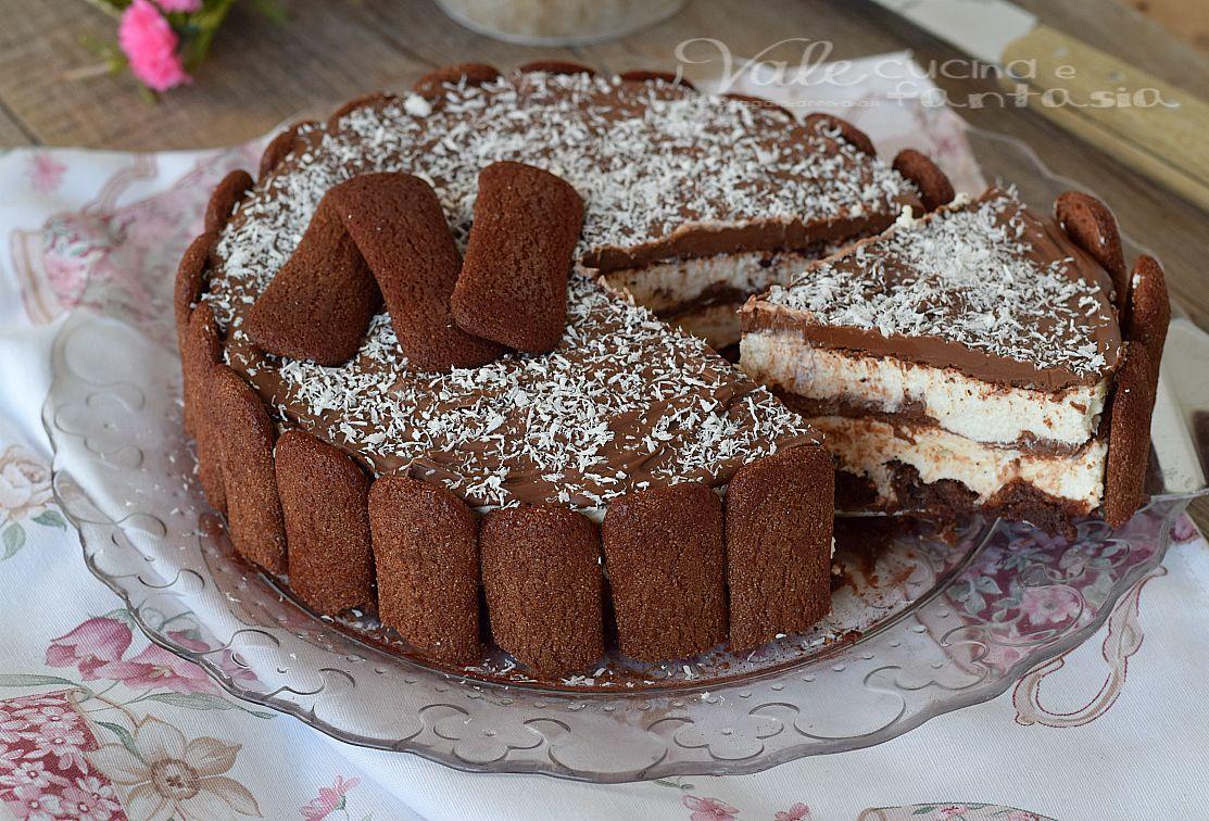 Torta di pavesini al cacao con crema al cocco | Nutella