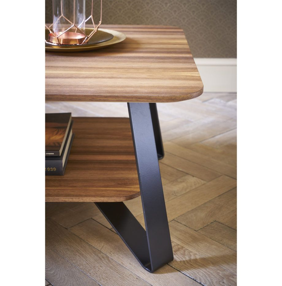 Table Basse Bois Noir Noyer Design Retro Made France Pm 3 Table Basse Design Bois Mobilier De Salon Design Retro