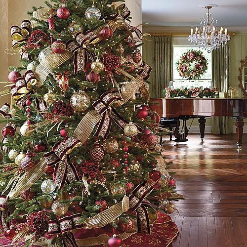 Red And Gold Christmas Trees: May Your Days Be Merry And Bright...