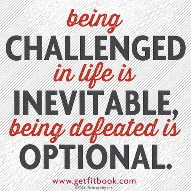 choose to let challenges make you better, not bitter. we can't control circumstances, but we can choose our response! #livelifefit