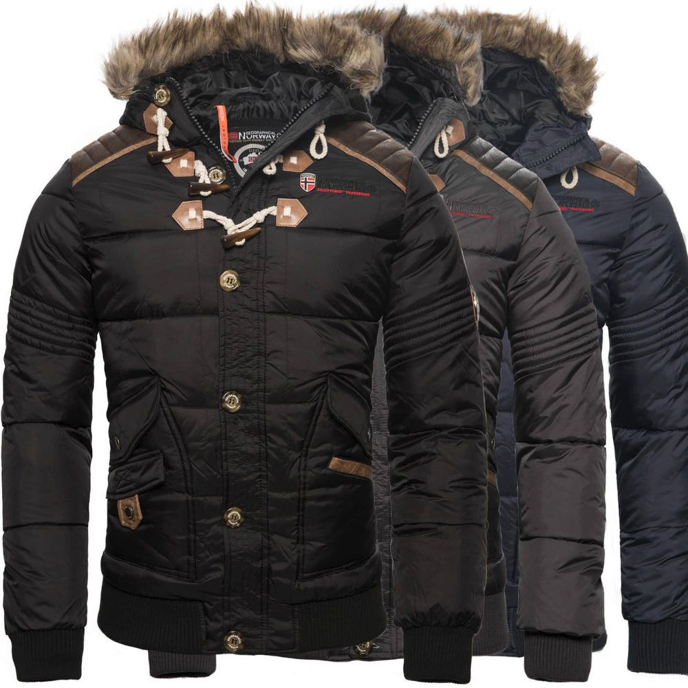 18b07188e971 Geographical Norway Herren Winter Jacke Steppjacke Parka Belphegor  Winterjacke   eBay