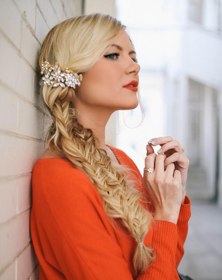 messy side braids | Blonde hair looks, Braids for long ...