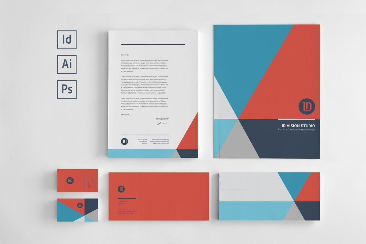 Stationery Corporate Identity 003 By Id Vision Studio On Envato Elements Corporate Stationery Corporate Identity Design Corporate Identity