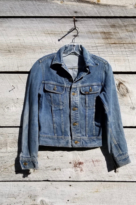Vintage 70 S Lee Denim Jacket Distressed Trucker S Etsy Distressed Denim Jacket Lee Denim Jacket Denim Jacket [ 3000 x 1988 Pixel ]