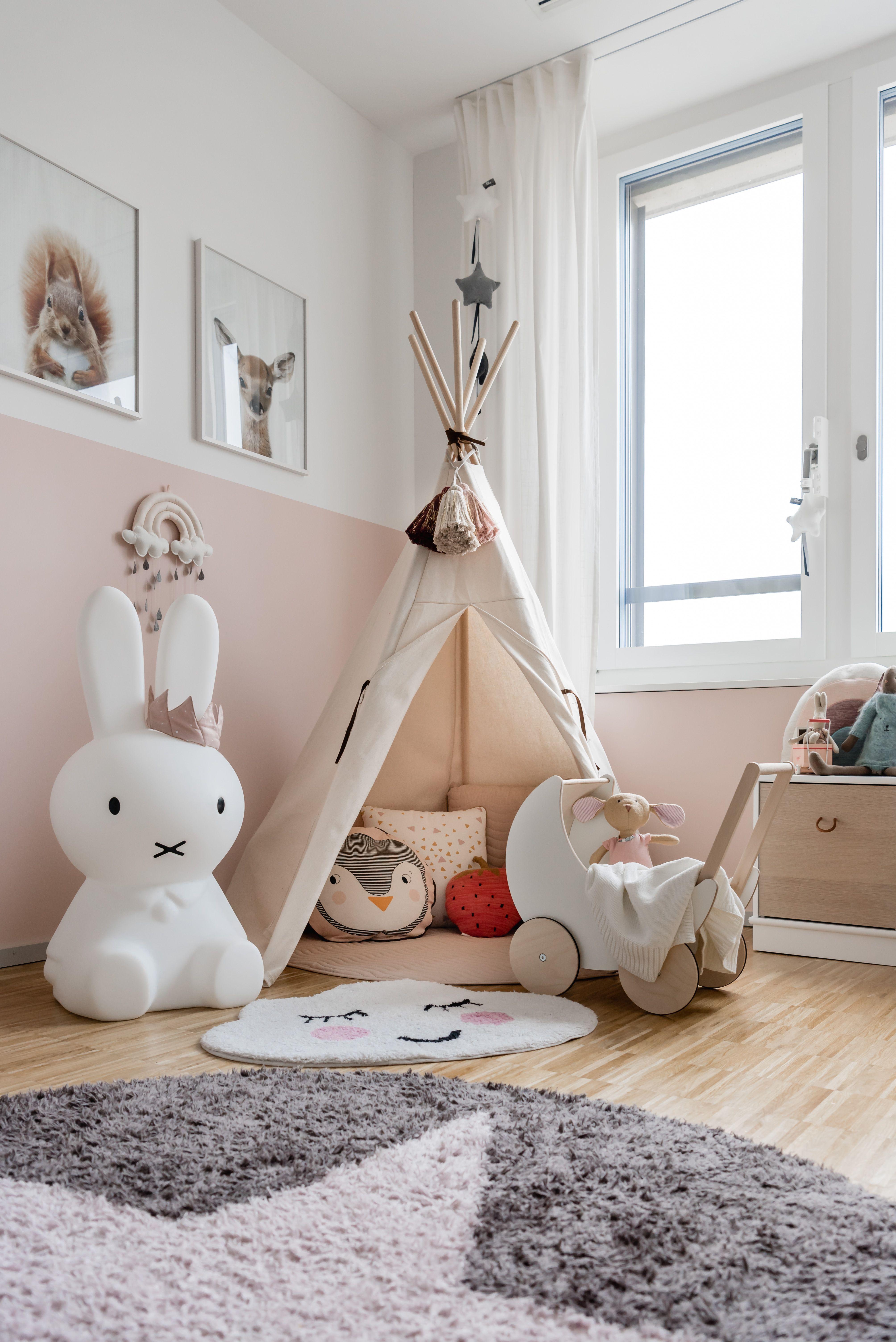 Kinderzimmer mit kuscheliger Tipi Ecke kinderzimmer
