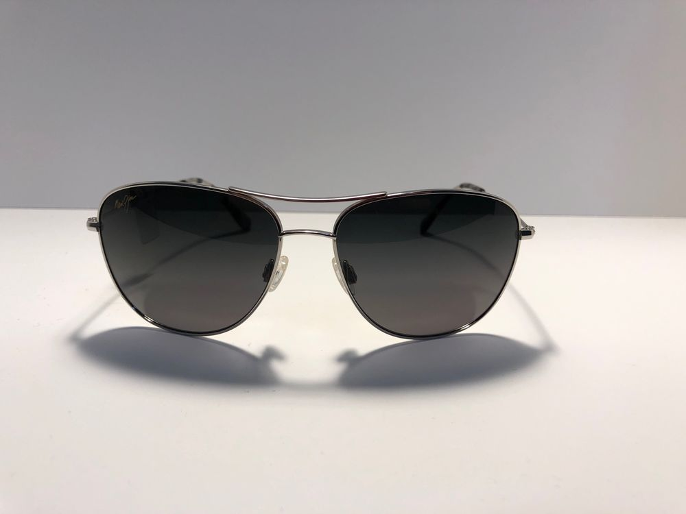 b68ca28d52b NEW MAUI JIM GUARDRAILS Sunglasses MJ 327-17 Silver Frame Polarized Grey  Lenses  fashion  clothing  shoes  accessories  mensaccessories ...