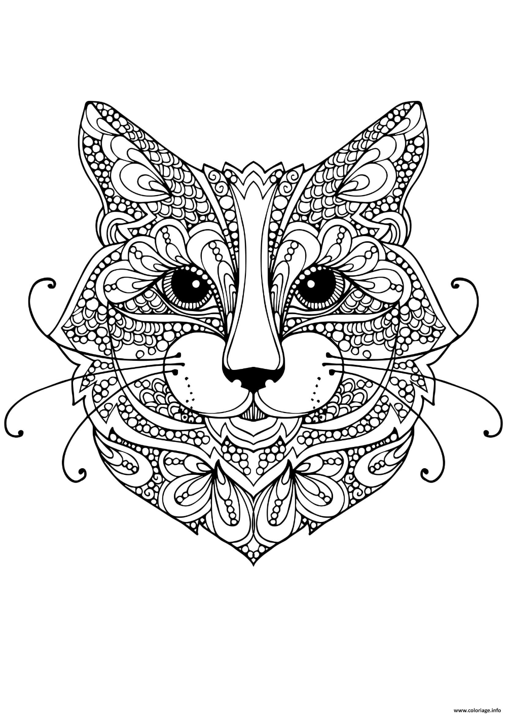 Photo Coloriage Mandala Animaux Chat Mignon Coloriage Anti Stress