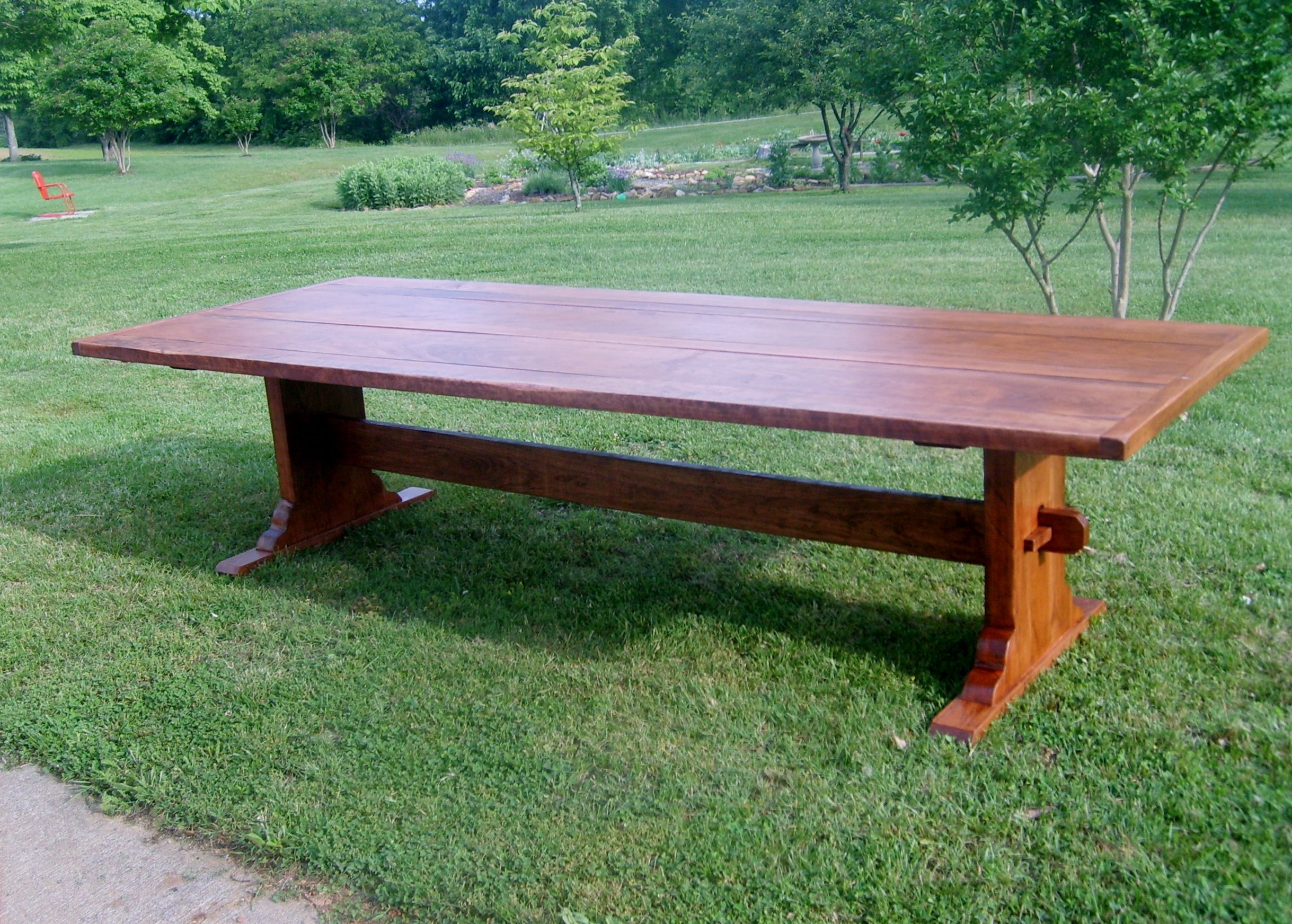 Country Trestle Table Solid Cherry 3 Kitchen Table Diningtables