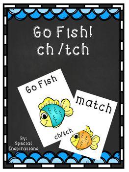 Go Fish Ch Tch Game Phonics Going Fishing Phonics Games