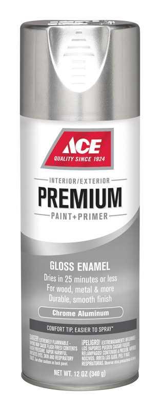 Ace Premium Gloss Chrome Aluminium Enamel Spray Paint 12 Oz Ace Hardware Enamel Spray Paint Ace Hardware Premium Paint