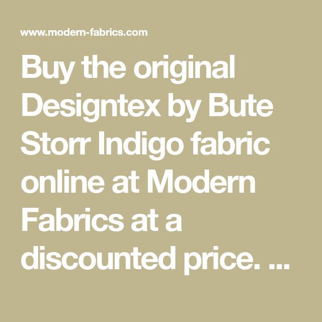 Designtex By Bute Storr Indigo Super Chunky Wool Upholstery Fabric