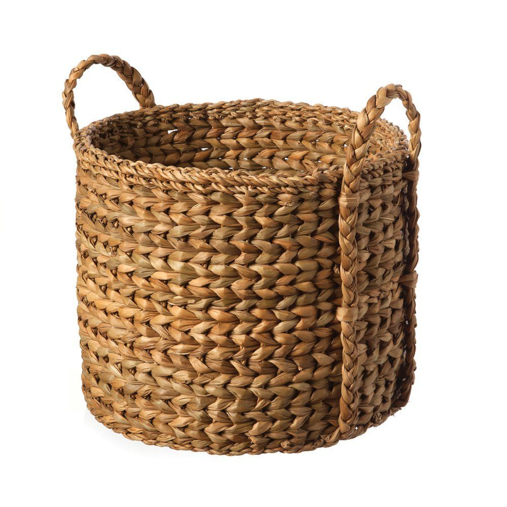 Hogla Basket with Plaited Handles: Amazon.co.uk: Kitchen & Home £14.00