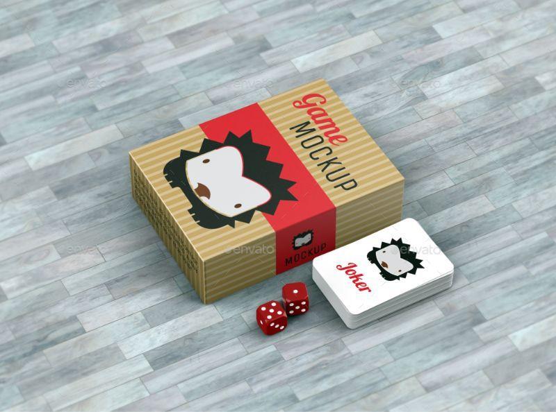 Game Branding Mockup Psd Box Mockup Board Game Box Game Design