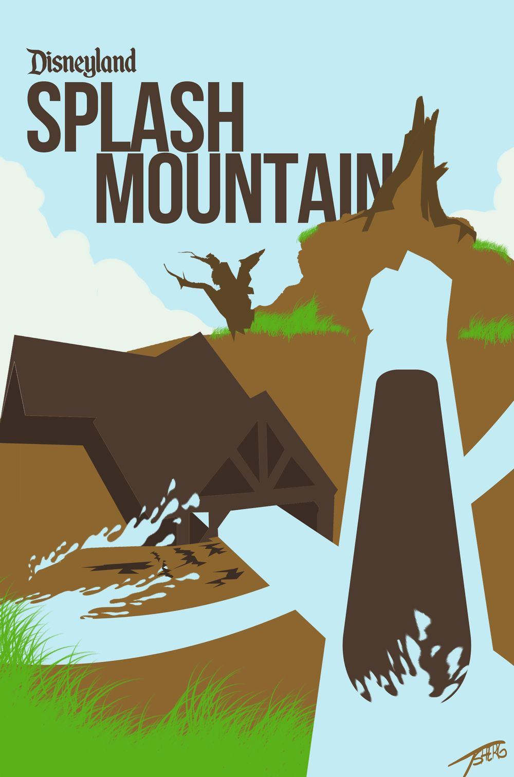 Minimalist Disney Park Posters for Your Favorite Ride ...
