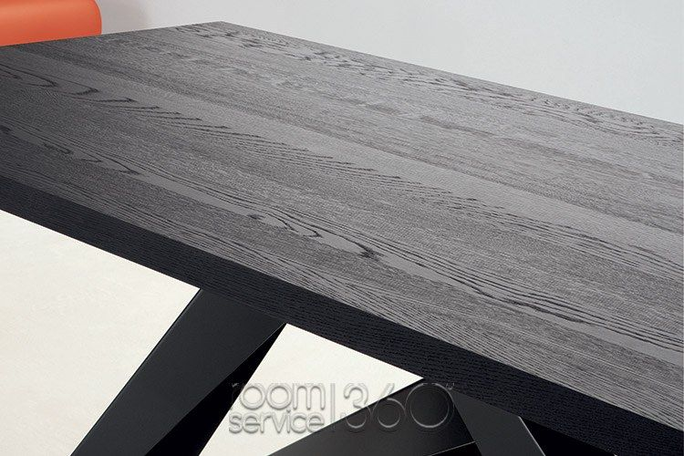Solid Grey Oak Top With Anthracite Grey Base Close Up By