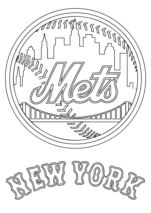 New York Mets Coloring Page My Fairytale Town New York Mets Coloring Pages Mets