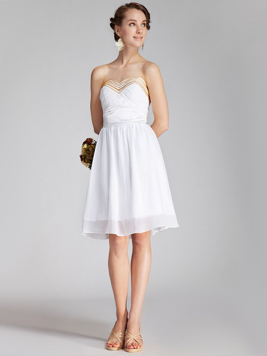 find this pin and more on a garden wedding beaded bodice chiffon little white dress