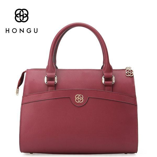 4b840f94a4 HONGU European American Satchels Genuine Cow Leather Women Totes Handbags  Shoulder Messenger Crossbody Bags Female Handbag bag