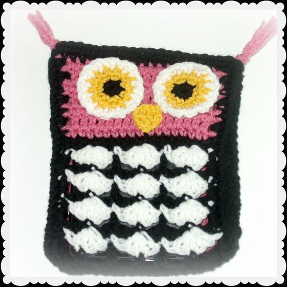 Crochet Owl Kindle Fire Case Ereader Cover by kyoticrafts on Etsy, $20.00