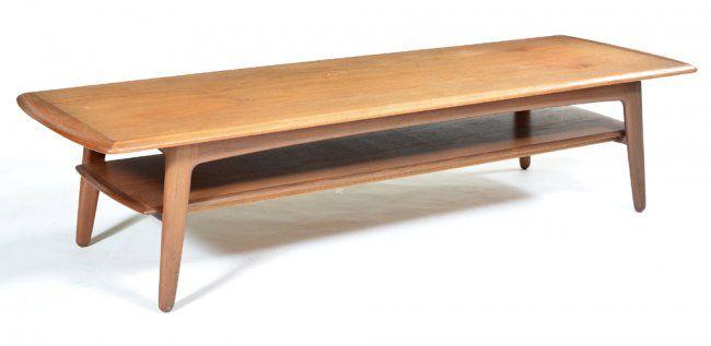 Danish Modern Teak Coffee Table, Madsen For Lindegaard : Lot 119