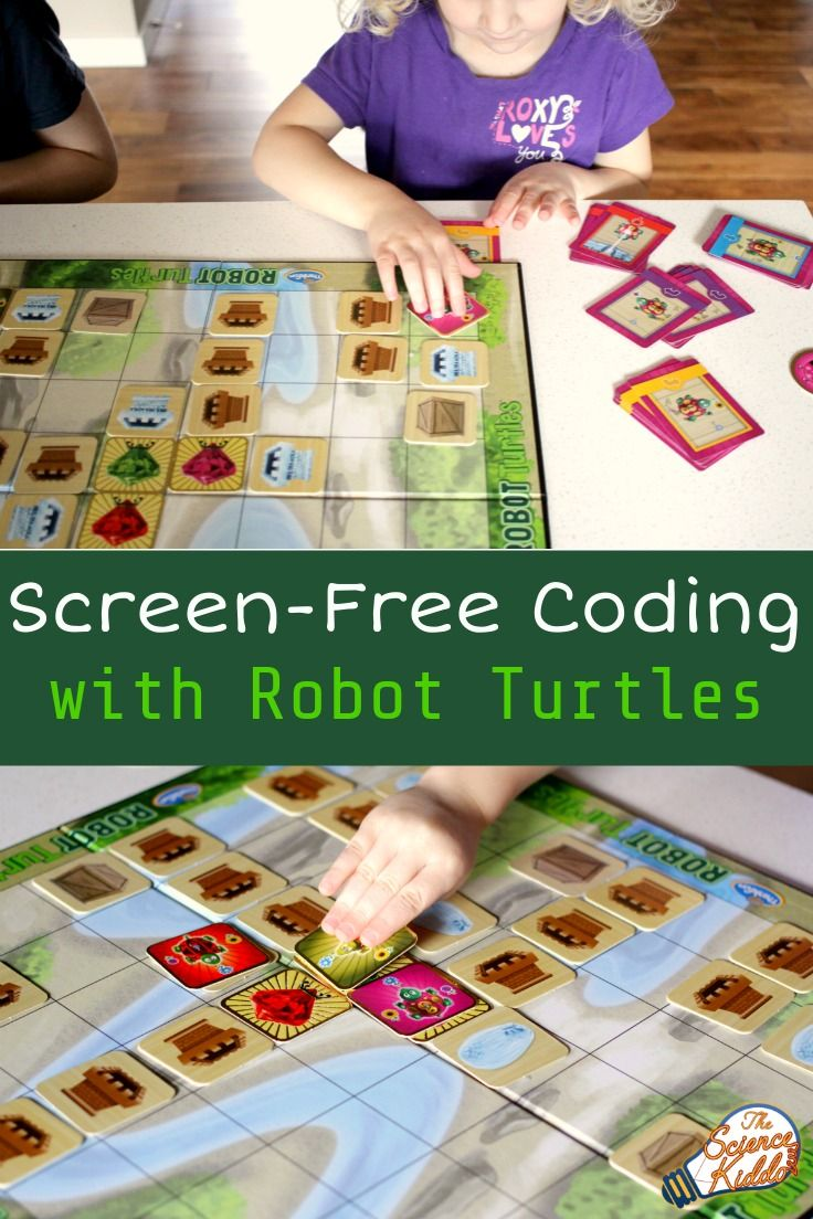 Coding With a Board Game Robot Turtles Robot turtles