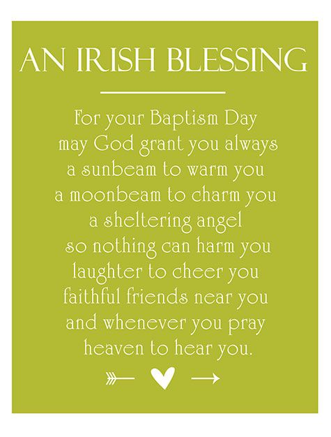 Irish Christening Blessing Irish Christening Christening Baby