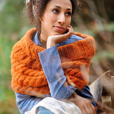 Blue Sky Alpacas Bulky Compass Cable Cowl Knitting Pattern