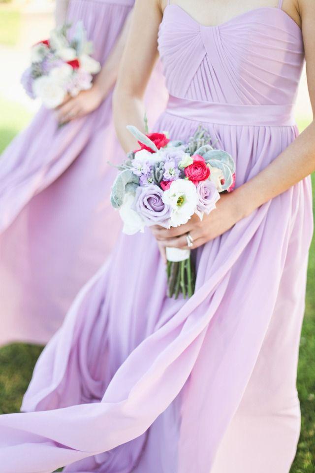 Bridesmaids In Soft Lavender