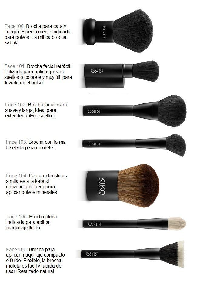 como utilizar los pinceles de maquillaje