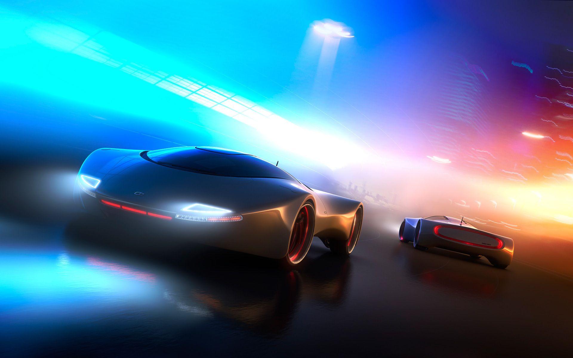 Futuristic Car Neon Light Concept Car Concept Cars Car Wallpapers Futuristic Cars