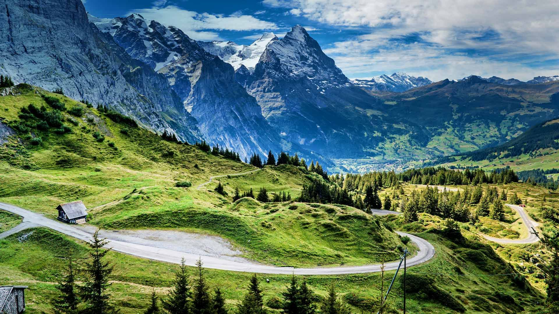 View of the Eiger from the Grosse Scheidegg mountain pass