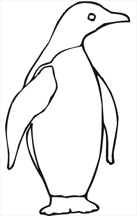 Penguin Shape Template 27 Free Psd Ai Vector Eps Format