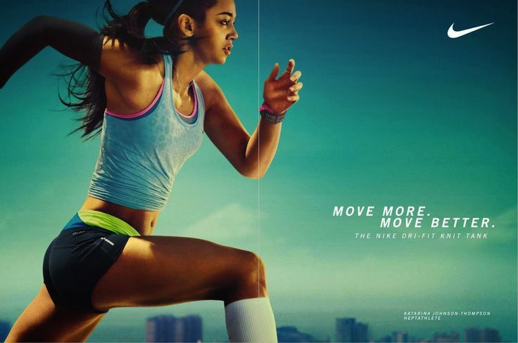 Nike Ad With Active Female Nike Ad Sports Advertising Ad Campaign