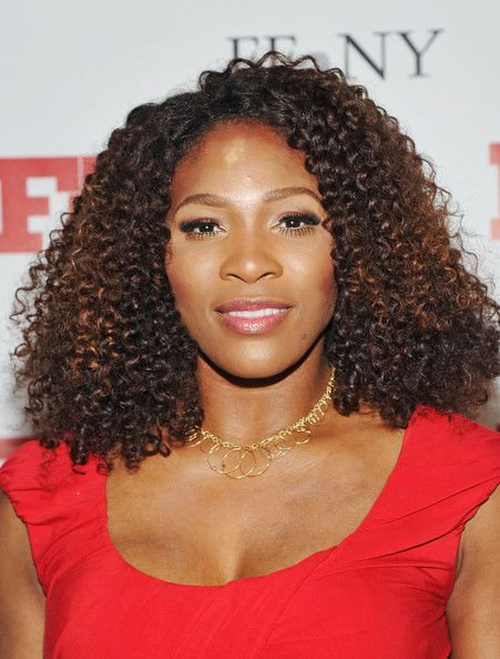 Serena Williams False Eyelashes Curly Hair Weave Styles Curly Weave Hairstyles Serena Williams