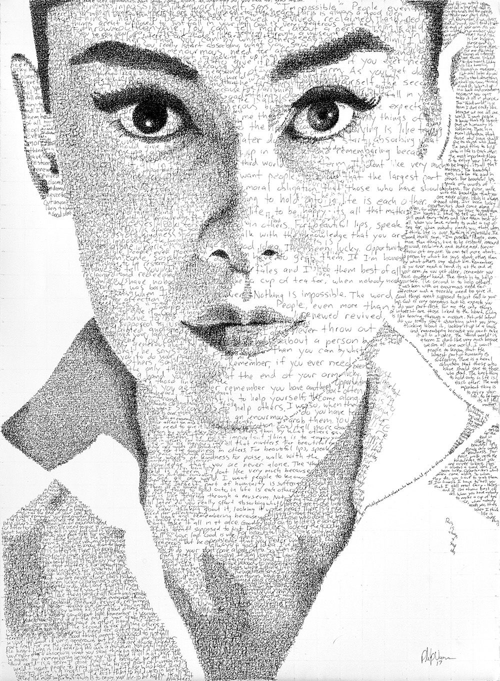 The largest drawing in the world (portrait of 48 women) 46