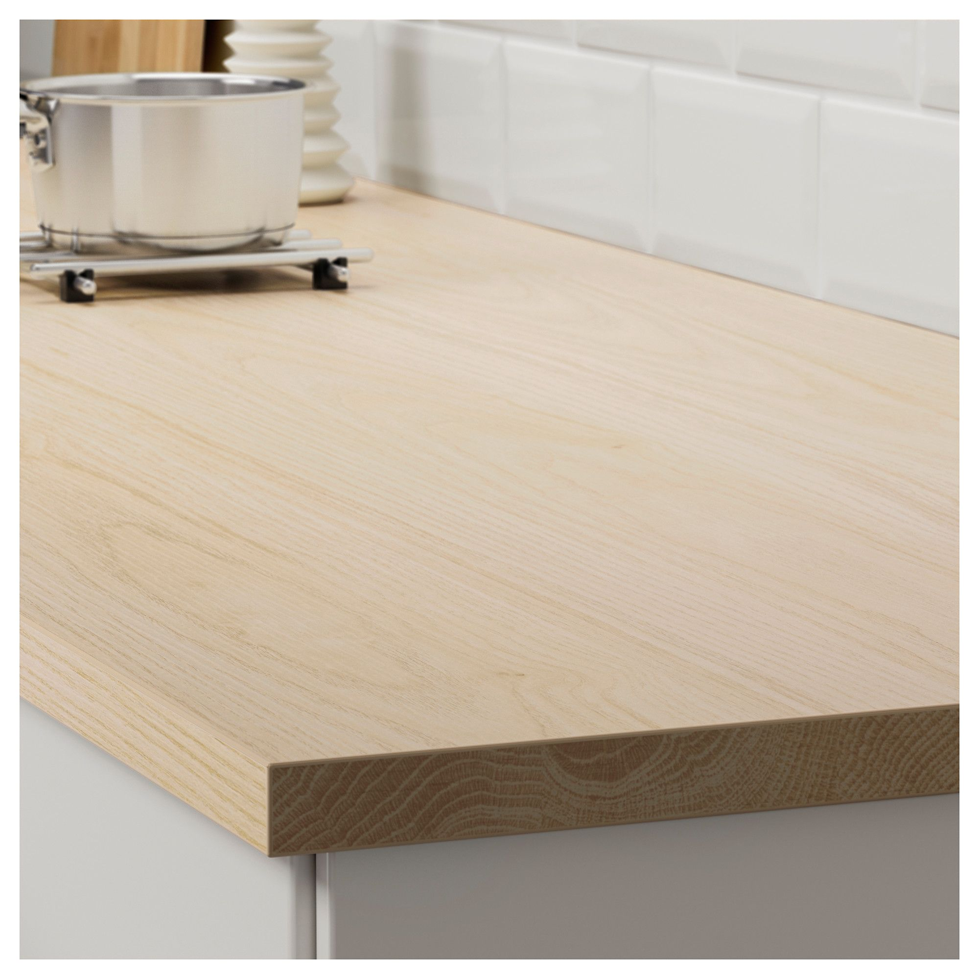 Ekbacken Countertop Ash Effect Laminate Shop Ikea Ikea Countertops Wood Worktop Kitchen Worktop