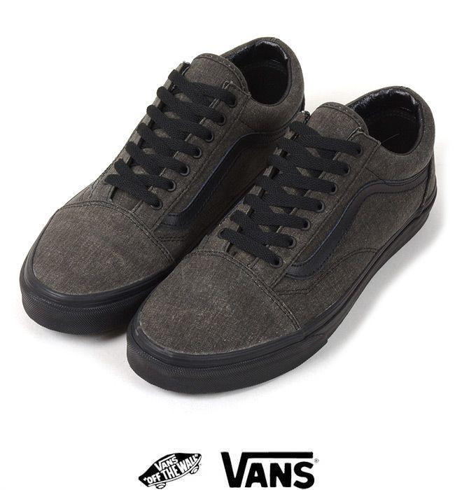 vans old skool washed black