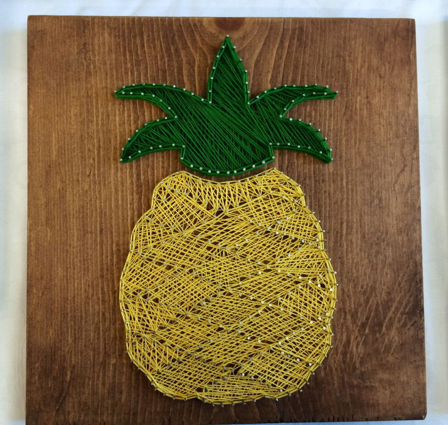 Pineapple <Wood Art//Home Decor//String Art//Signs> by CarreDesigns ...