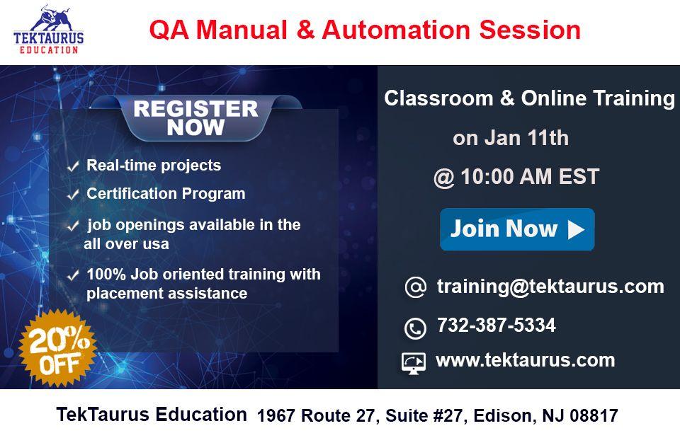Qa manual automation job opening software testing
