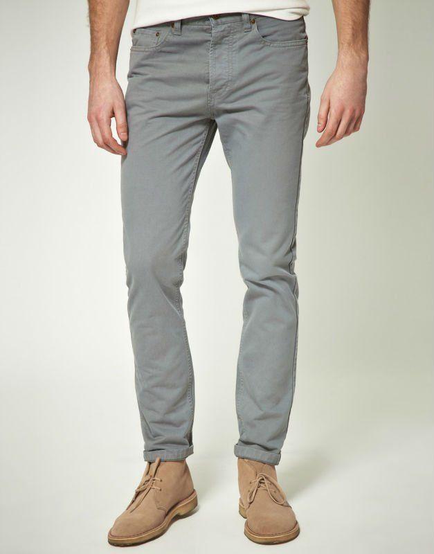 Jean Gris Hombre Buscar Con Google Latest Fashion Clothes Slim Fit Jeans Moda Casual