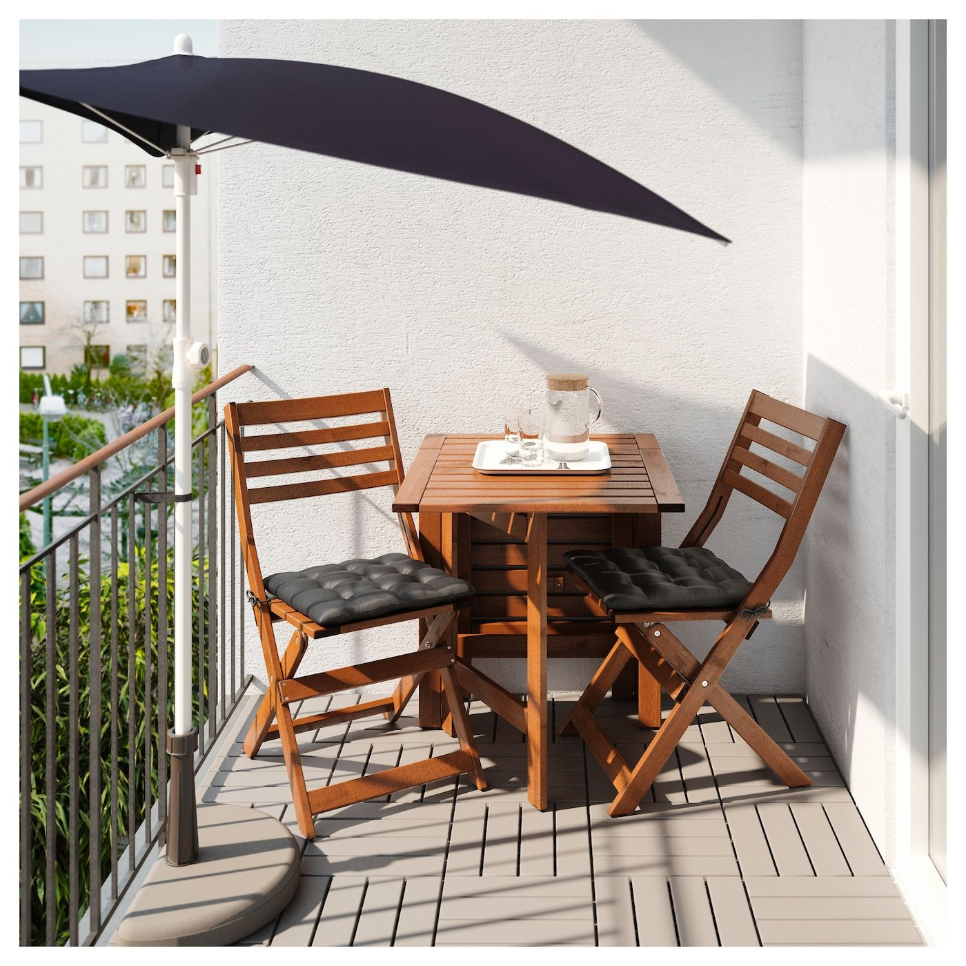 "FLISÖ Umbrella black 63x39 3/8 "" Patio decor, Balcony"