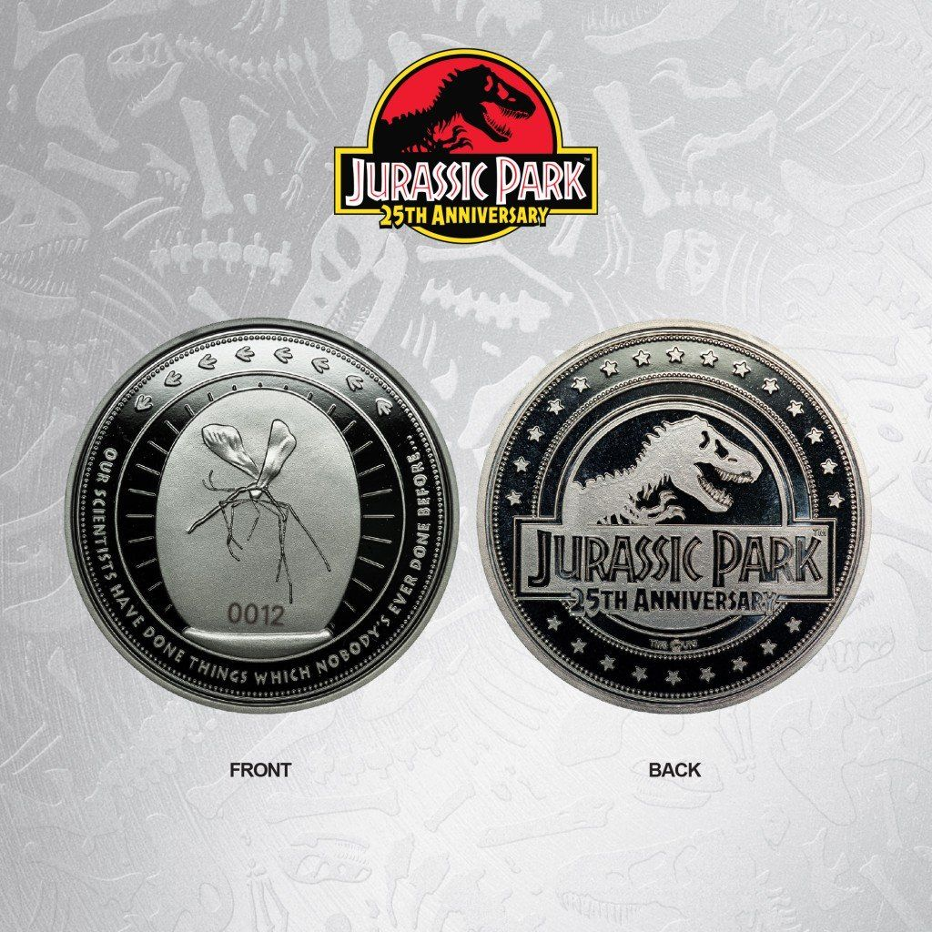 Jurassic Park Silver Plated Limited Edition Collectible Coin