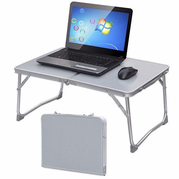 Mesa plegable port til bandeja de cama escritorio del for Mesa plegable para ordenador