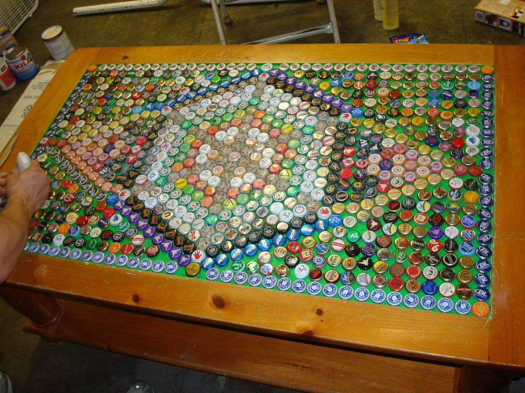 how to make a beer cap table