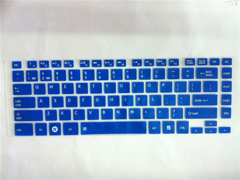 Keyboard Silicone Skin Cover Protector for Toshiba Satellite L800 M800 M805 Blue