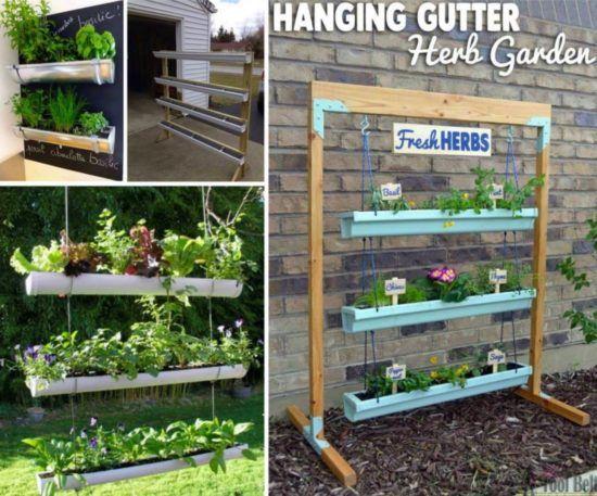 Perfect Hanging Gutter Garden