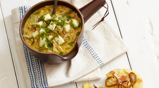 Poulet Chicken Mulligatawny Soup with Apples | Recipes - PureWow